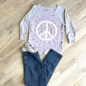 Other - Girl's peace shirt and jeggings set